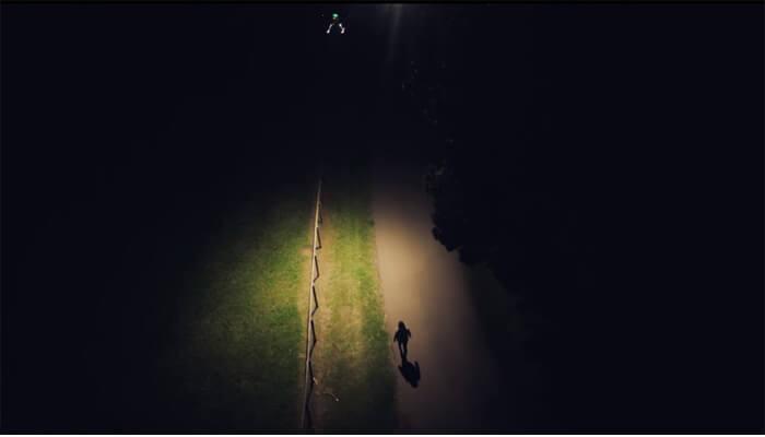 освещение дороги квадрокоптером