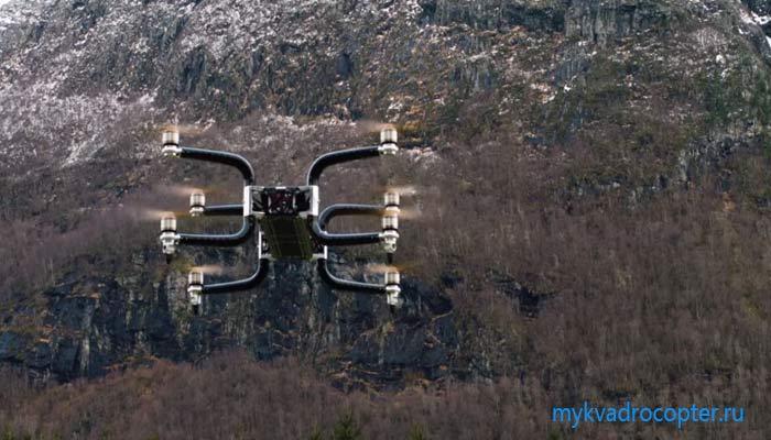 v norvegii sozdan dron tyazheloves