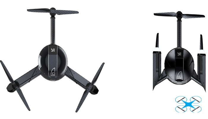 Xiaomi Yi Erida Drone - Yi Erida быстрый складной трикоптер.
