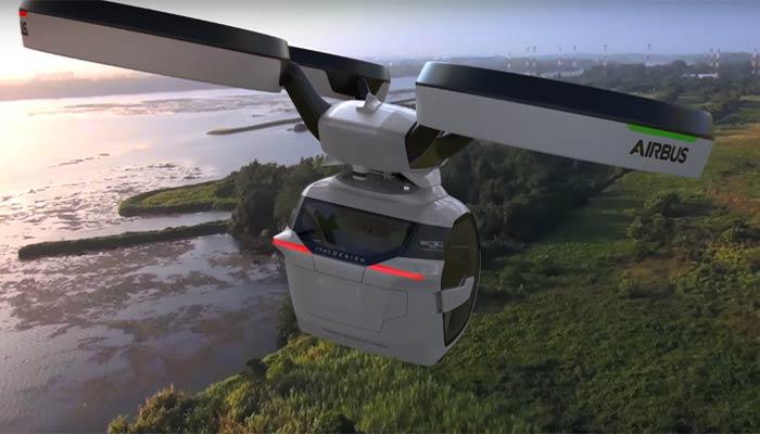 car-Airbus В Женеве показали летающий концепт-кар.