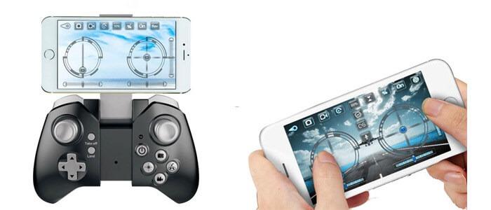 VISUO XS809W upravlenie s pomoshhyu smartfona