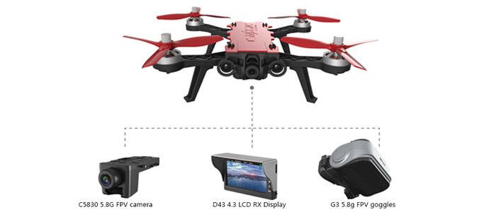 MJX Bugs 8 Pro s kameroj monitorom i fpv ochkami