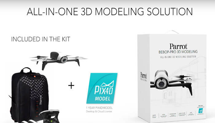 Parrot Bebop Pro 3D Modeling pack