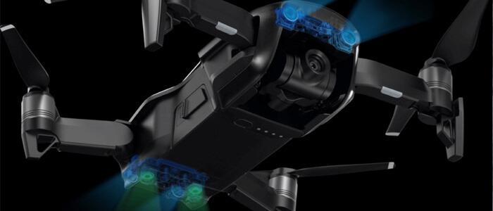 DJI Mavic Air sensory drona