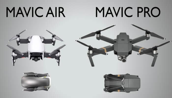 Mavic Air sravnenie Mavic Pro