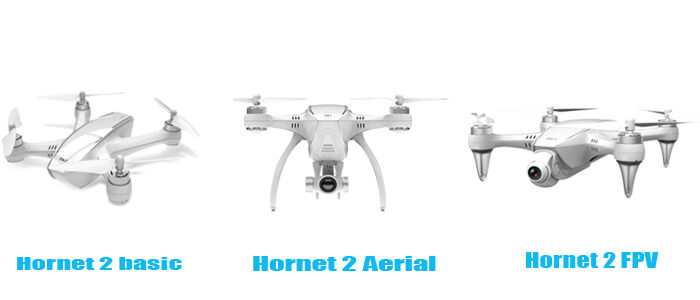 tri komplektatsii drona hornet 2