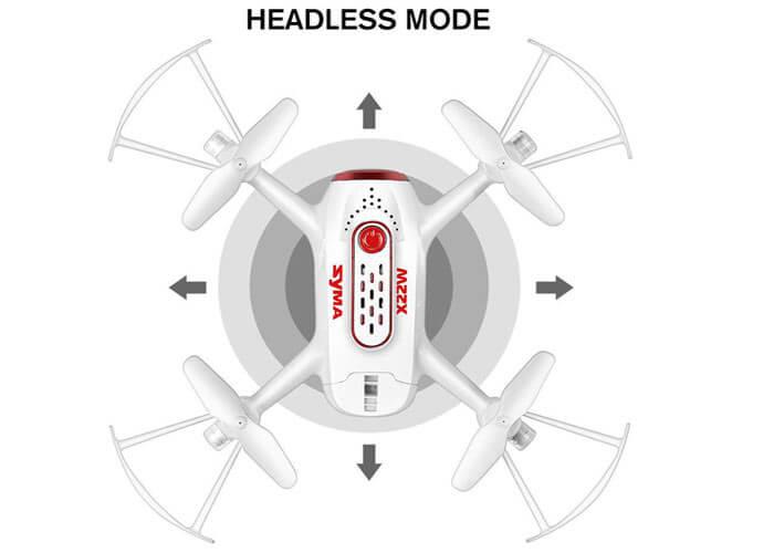 Syma X22W headless mode
