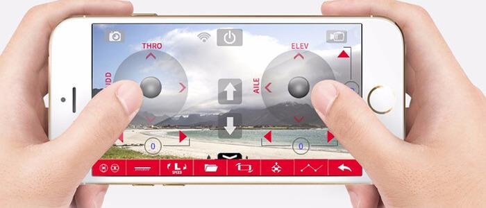 upravlenie dronom so smartfona