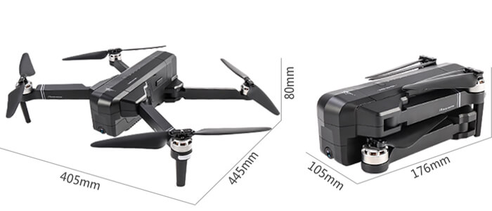 SJRC F11 razmery drona